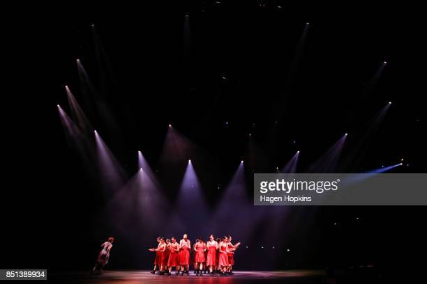 Actors perform during the World of WearableArt Awards 2017 at TSB Bank Arena on September 22 2017 in Wellington New Zealand