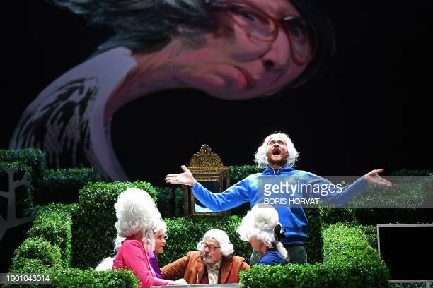 """Actors perform in the play """" Tartiufas"""" by Molière directed by Lithuanian director Oskaras Korsunovas during the 72nd International Theatre festival..."""