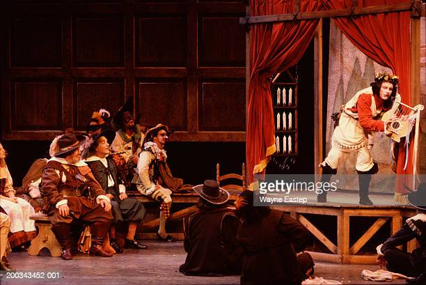 actors performing scene from cyrano de bergerac - acting performance stock pictures, royalty-free photos & images
