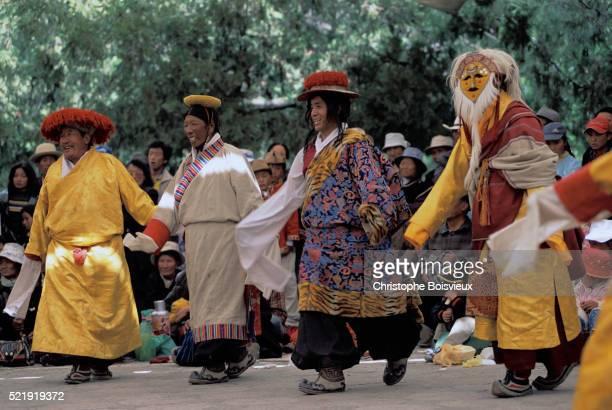 Actors Performing Tibetan Opera