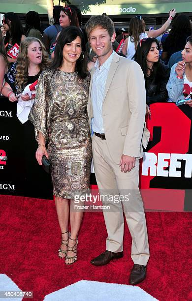 Actors Perrey Reeves and Aaron Fox attend the Premiere Of Columbia Pictures' 22 Jump Street at Regency Village Theatre on June 10 2014 in Westwood...