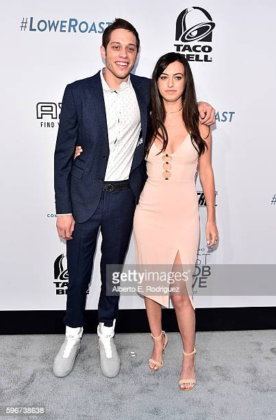 Actors Pete Davidson and Cazzie David attend The Comedy Central Roast of Rob Lowe at Sony Studios on August 27 2016 in Los Angeles California