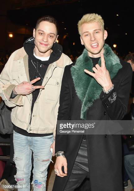 Actors Pete Davidson and Colon Baker attend the Big Time Adolescence Premiere during the 2019 Sundance Film Festival at Eccles Center Theatre on...