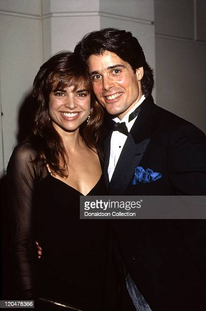 Actors Peter Barton and Lisa Rinna attend an event in 1989 in Los Angeles California