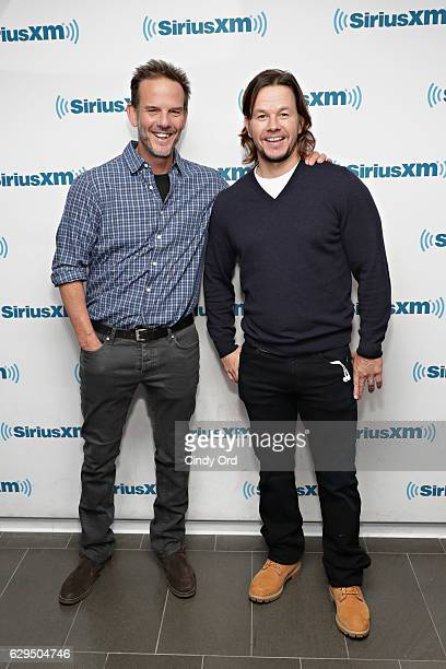 Actors Peter Berg and Mark Wahlberg take part in SiriusXM's Town Hall with Mark Wahlberg and Peter Berg hosted by SiriusXM's Entertainment Weekly...