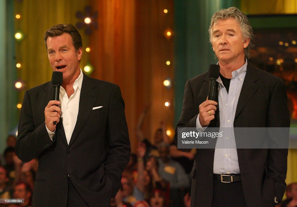 Actors Peter Bergman (L) and Patrick Duffy (R) attends 'The Price Is Right' Daytime Emmys-themed episode taping at CBS Studios on May 24, 2010 in Los Angeles, California.