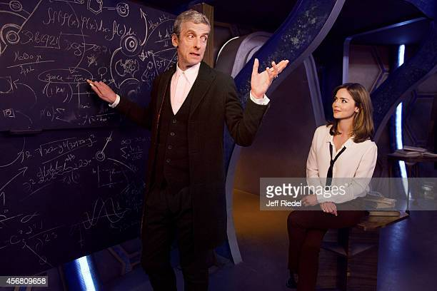 Actors Peter Capaldi and Jenna Coleman are photographed for Entertainment Weekly Magazine on June 17 2014 in London England