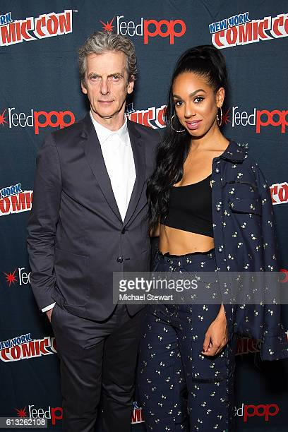 Actors Peter Capaldi and Pearl Mackie attend BBC America Takeover featuring Doctor Who Class and Dirk Gently's Holistic Detective Agency during 2016...