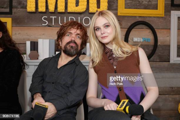 Actors Peter Dinklage and Elle Fanning of 'I Think We're Alone Now' attend The IMDb Studio and The IMDb Show on Location at The Sundance Film...