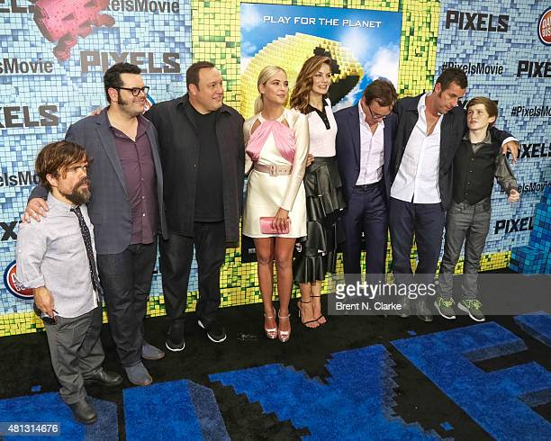 Actors Peter Dinklage Josh Gad Kevin James Ashley Benson Michelle Monaghan director/producer Chris Columbus actor/producer/writer Adam Sandler and...