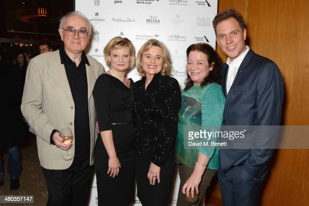 Actors Peter Egan Martha Plimpton Sinead Cusack Clare Higgins and Daniel Lapaine attend an after party celebrating the press night performance of The...