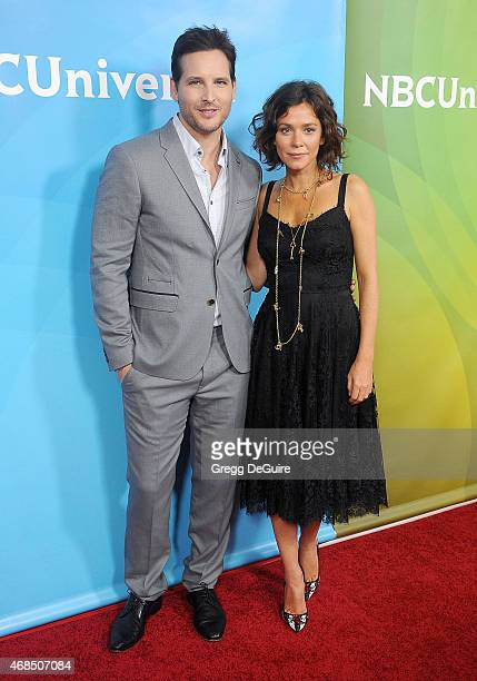 Actors Peter Facinelli and Anna Friel arrive at the 2015 NBCUniversal Summer Press Day at The Langham Huntington Hotel and Spa on April 2 2015 in...