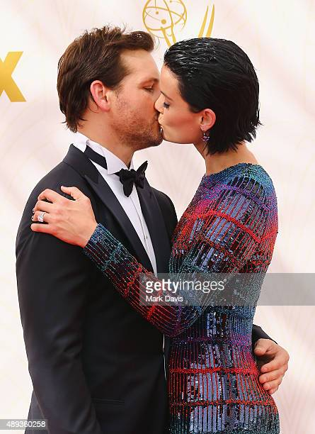 Actors Peter Facinelli and Jaimie Alexander attend the 67th Annual Primetime Emmy Awards at Microsoft Theater on September 20 2015 in Los Angeles...