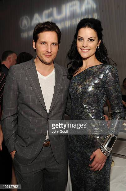 Actors Peter Facinelli and Jaimie Alexander attend the after party for the movie of THOR presented by Acura on May 2, 2011 in Hollywood, California.