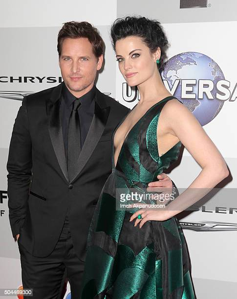 Actors Peter Facinelli and Jaimie Alexander attend Universal NBC Focus Features and E Entertainment Golden Globe Awards After Party sponsored by...