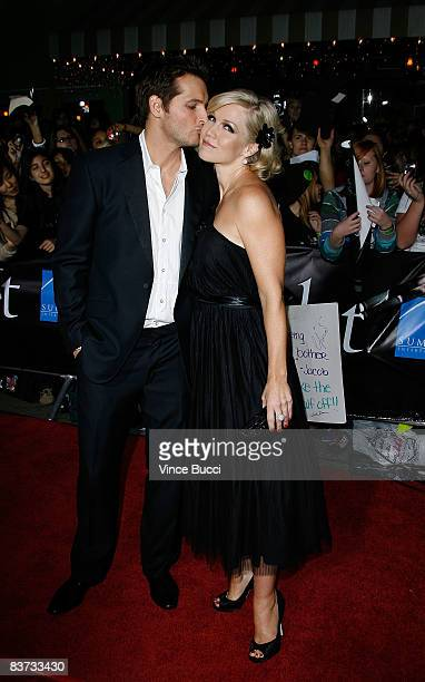 Actors Peter Facinelli and wife Jeannie Garth attend the premiere of Summit Entertainment's Twilight at The Mann Village and Bruin Theatres on...