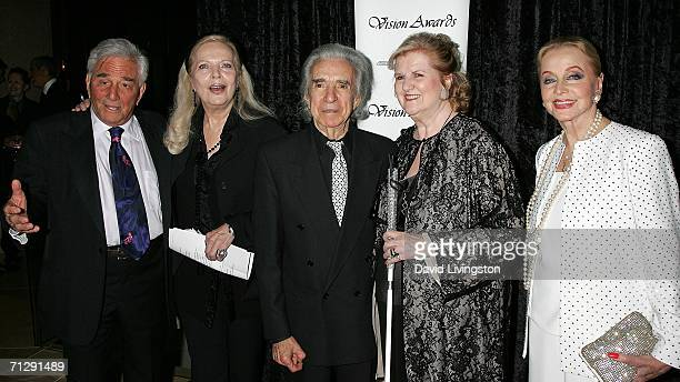 Actors Peter Falk and Barbara Bain director Arthur Hiller Vision Awards founder Helen Harris and actress Anne Jeffreys arrive for the 33rd Annual...