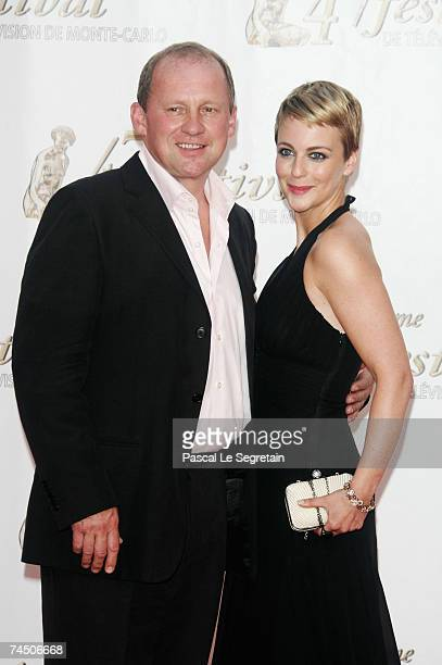 Actors Peter Firth and Miranda Raison attend the opening night of the 2007 Monte Carlo Television Festival held at Grimaldi Forum on June 10 2007 in...