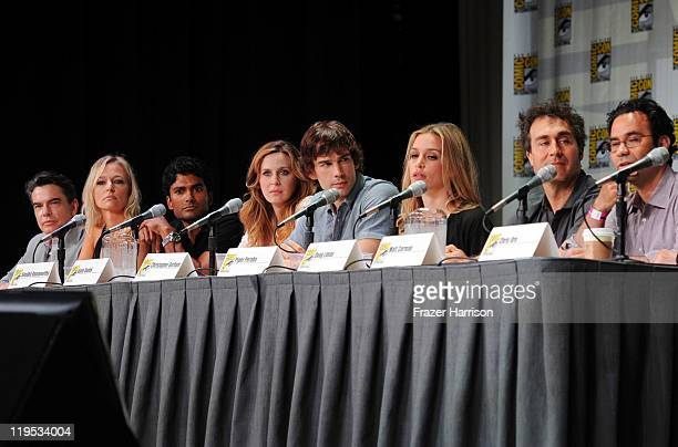Actors Peter Gallagher Kari Matchett Sendhil Ramamurthy Anne Dudek Christopher Gorham Piper Perabo executive producer Doug Liman and coexecutive...