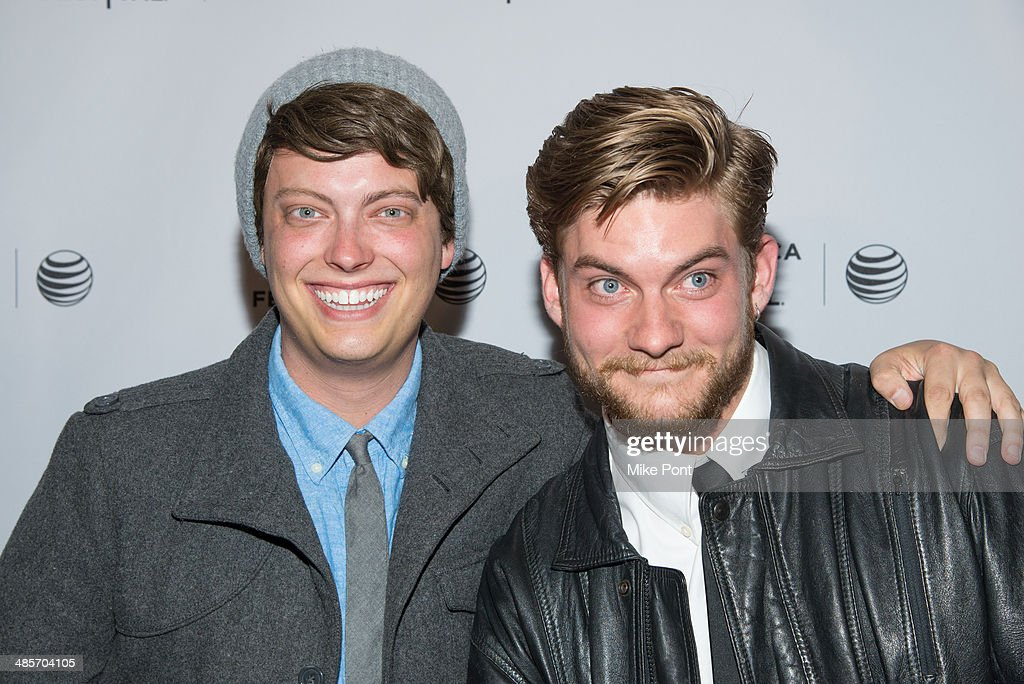 Actors Peter Gilroy (L) and Jake Weary attend the premiere of 'Zombeavers' during the 2014 Tribeca Film Festival at Chelsea Bow Tie Cinemas on April 19, 2014 in New York City.