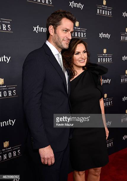 Actors Peter Hermann and Mariska Hargitay attend the 4th Annual NFL Honors at Phoenix Convention Center on January 31 2015 in Phoenix Arizona