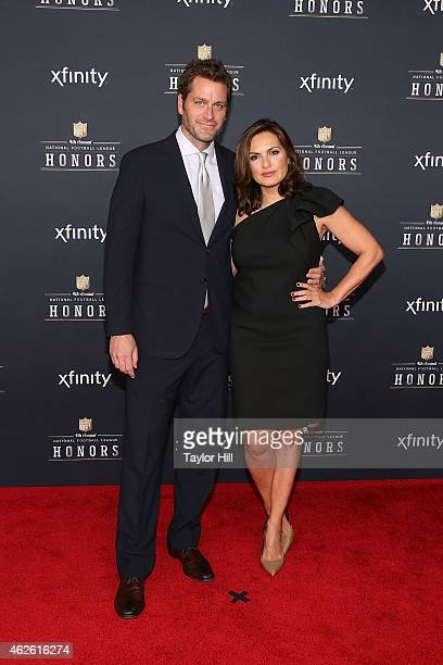 Actors Peter Hermann and Mariska Hargitay attends the 2015 NFL Honors at Phoenix Convention Center on January 31 2015 in Phoenix ArizonaÊ
