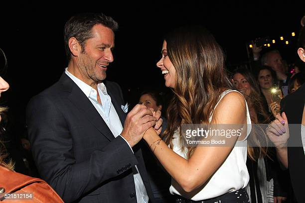 Actors Peter Hermann and Sutton Foster of TV Lands Younger attend the Younger FYC Screening Reception at The London West Hollywood on April 15 2016...