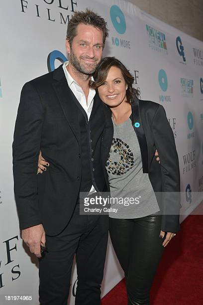 Actors Peter Hermann andMariska Hargitay attend The Joyful Heart Foundation Presents JoyROCKS to celebrate the NO MORE PSA Launch at Milk Studios on...