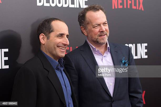 Actors Peter Jacobson and David Costabile attends the 'Bloodline' New York Series Premiere at SVA Theater on March 3 2015 in New York City