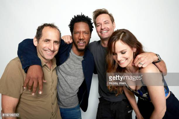 Actors Peter Jacobson Tory Kittles Josh Holloway and Sarah Wayne Callies from USA Network's 'Colony' pose for a portrait during ComicCon 2017 at Hard...