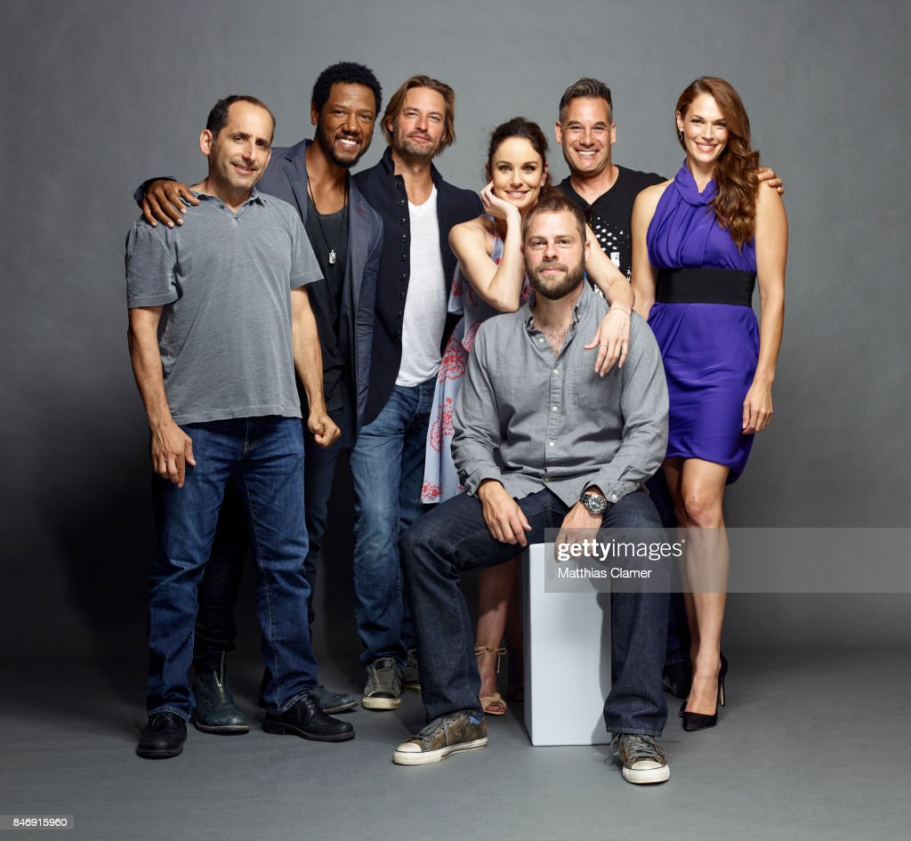 Actors Peter Jacobson, Tory Kittles, Josh Holloway, Sarah Wayne Callies, Adrian Pasdar, Amanda Righetti and creator Ryan Condal from 'Colony' are photographed for Entertainment Weekly Magazine on July 21, 2016 at Comic Con in the Hard Rock Hotel in San Diego, California.