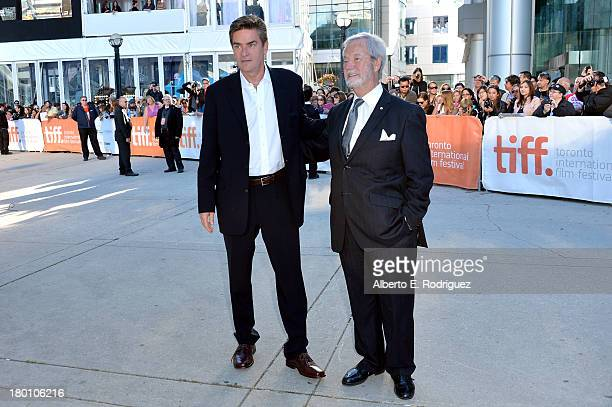Actors Peter Keleghan and Gordon Pinsent attend 'The Grand Seduction' premiere during the 2013 Toronto International Film Festival at Roy Thomson...