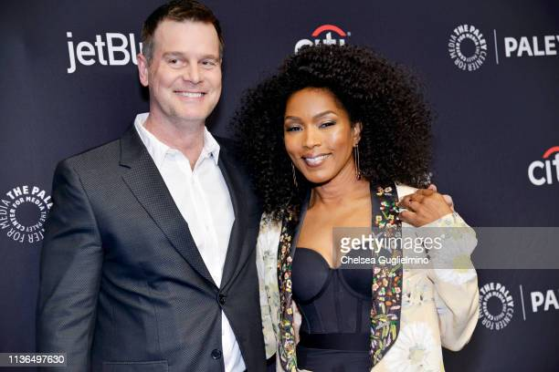 Actors Peter Krause and Angela Bassett attend the Paley Center For Media's 2019 PaleyFest LA 911 at Dolby Theatre on March 17 2019 in Hollywood...