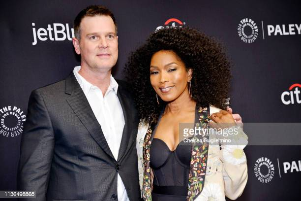 Actors Peter Krause and Angela Bassett attend the Paley Center For Media's 2019 PaleyFest LA '911' at Dolby Theatre on March 17 2019 in Hollywood...