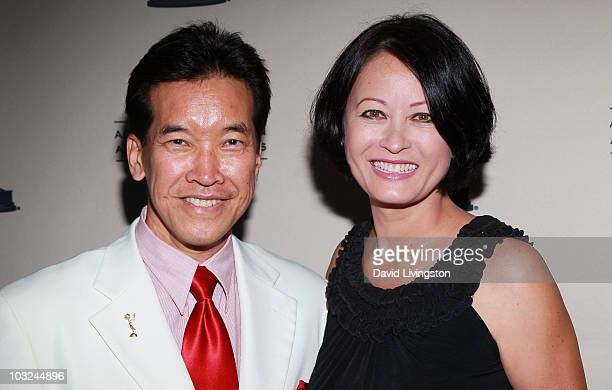 Actors Peter Kwong and Julia Nickson attend the Academy of Television Arts Sciences' Performers Peer Group Emmy reception at Chakra on August 4 2010...