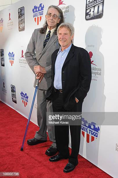 Actors Peter Mayhew and Harrison Ford arrive at The Empire Strikes Back 30th Anniversary Charity Screening Event at ArcLight Cinemas on May 19 2010...