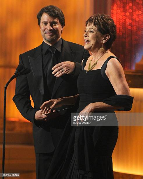 Actors Peter Reckell and Louise Sorel present the Oustanding Drama Writing Team award onstage at the 37th Annual Daytime Entertainment Emmy Awards...