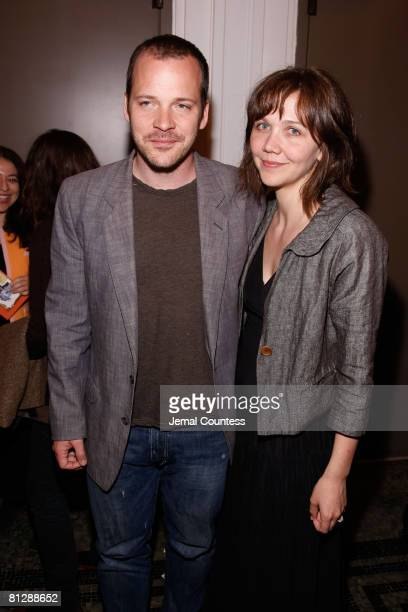 Actors Peter Sarsgaard and Maggie Gyllenhaal attend the 2008 Sundance Institute at BAM Opening Night Party at the Brooklyn Academy of Music on May 29...