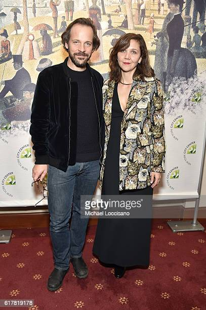 Actors Peter Sarsgaard and Maggie Gyllenhaal attend the 2016 New York City Center Gala at New York City Center on October 24 2016 in New York City