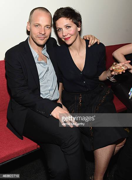 Actors Peter Sarsgaard and Maggie Gyllenhaal attend the Miu Miu Women's Tales 9th Edition 'De Djess' screening on February 18 2015 in New York City