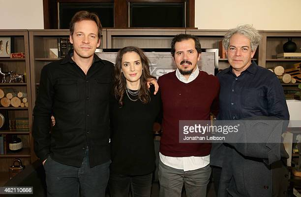 Actors Peter Sarsgaard Winona Ryder John Leguizamo and director Michael Almereyda attend the The Variety Studio At Sundance Presented By Dockers on...