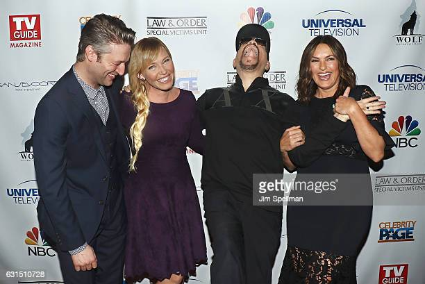 Actors Peter Scanavino Kelli Giddish IceT and Mariska Hargitay attend the TV Guide celebrates Mariska Hargitay at Gansevoort Park Avenue on January...