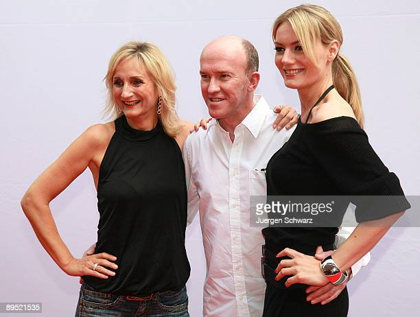 Actors Petra Nadolny Peter Nottmeier and Martina Hill pose at a photocall prior to the programme round up presentation of the new television season...