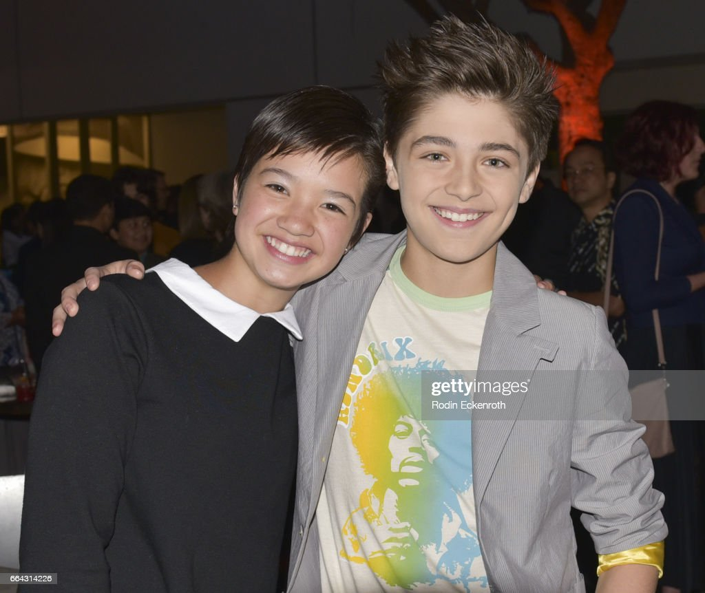 Actors Peyton Elizabeth Lee And Asher Angel Attend Premiere Of