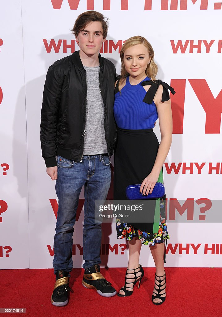Actors Peyton List and brother Spencer List arrive at the premiere of 20th Century Fox's 'Why Him?' at Regency Bruin Theater on December 17, 2016 in Westwood, California.