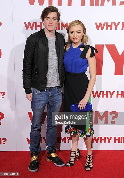 Actors Peyton List and brother Spencer List arrive at the premiere of 20th Century Fox's 'Why Him' at Regency Bruin Theater on December 17 2016 in...