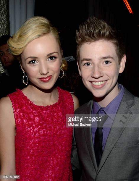 Actors Peyton List and Jackson Pace attend the Entertainment Weekly PreSAG Party hosted by Essie and Audi held at Chateau Marmont on January 26 2013...