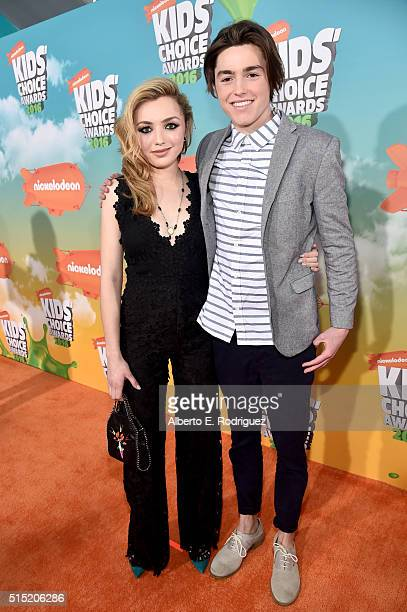 Actors Peyton List and Spencer List attend Nickelodeon's 2016 Kids' Choice Awards at The Forum on March 12 2016 in Inglewood California