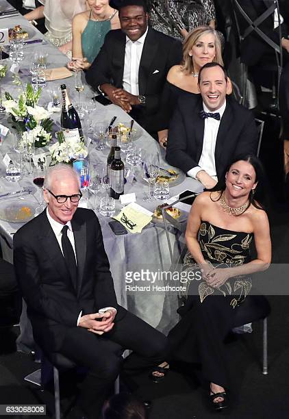 Actors Phil Reeves Julia LouisDreyfus Tony Hale make up artist Martel Thompson and actor Sam Richardson during The 23rd Annual Screen Actors Guild...