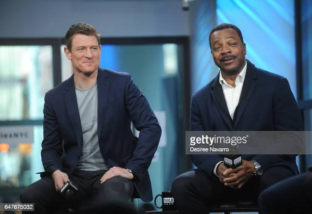 Actors Philip Winchester and Carl Weathers attend Build Series to discuss 'Chicago Justice' at Build Studio on March 3 2017 in New York City